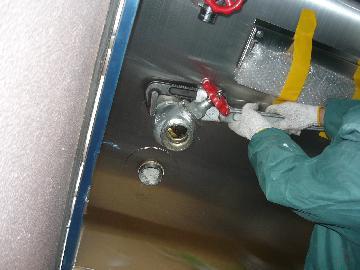 消火栓ボックスの改修工事