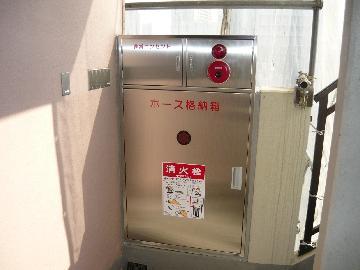 ステンレスを使用した消火栓ボックス
