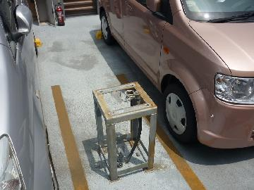 移動式粉末消火設備改修中